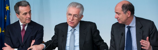 Vittorio Grilli, Mario Monti e Corrado Passera