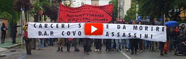 """Parma blindata, sit-in centri sociali contro il 41 bis: """"Ma non è a favore di Provenzano"""""""