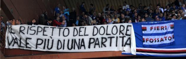Striscione Sampdoria Catania