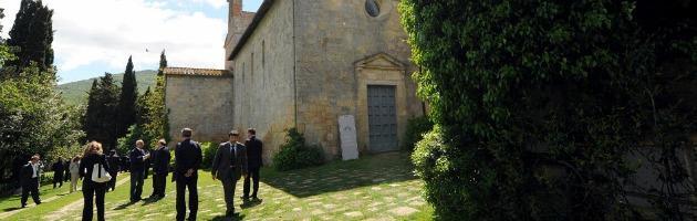 Nell'abbazia di Spineto il governo litiga anche sull'addio al Porcellum