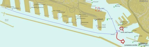 Jolly Nero, retromarcia obbligata perché l'uscita ovest del porto è insabbiata