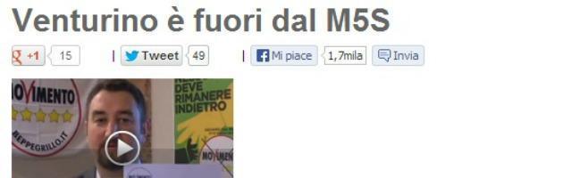 """M5S Sicilia, cartellino rosso per Venturino. Grillo: """"Tiene i soldi? Pezzo di merda"""""""