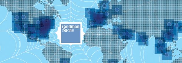 Goldman Sachs, infografica: la presenza della banca d'affari nel mondo
