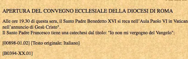 Vaticano, gaffe della Sala stampa. Ratzinger torna Papa per un giorno