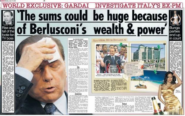 """Irish Sun: """"Berlusconi indagato in Irlanda per evasione fiscale e riciclaggio"""""""
