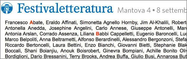 Festivaletteratura Mantova 2013: il programma dal 4 all'8 settembre