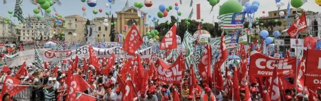 "Roma, Cgil, Cisl e Uil insieme in piazza. Camusso: ""Priorità è restituzione fiscale"""