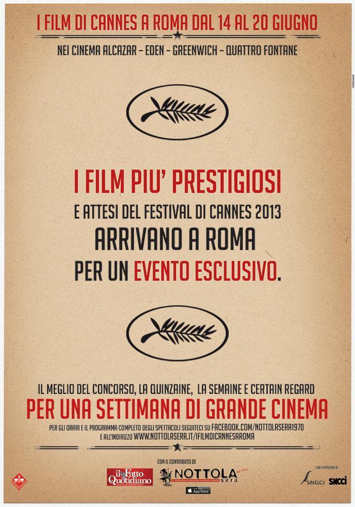 Il Fatto Quotidiano ti porta al cinema: i film di Cannes a Roma dal 14 al 20 giugno 2013