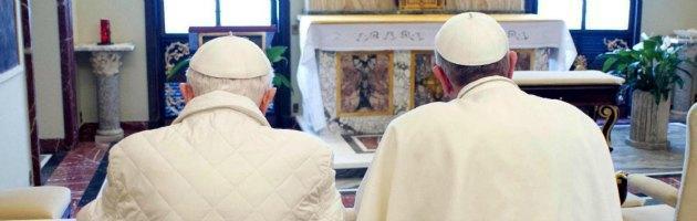 Papa Bergoglio e Ratzinger