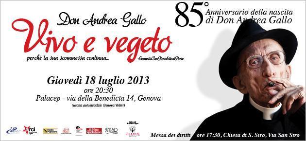 Don Andrea Gallo – Vivo e vegeto