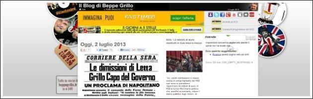 Blog Grillo - Dimissioni di Letta