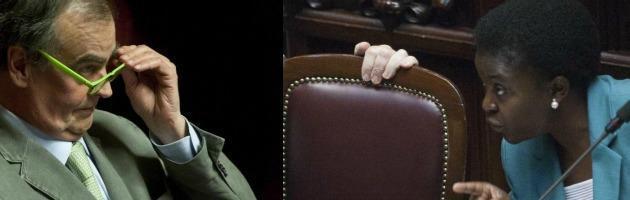 """Calderoli: """"Quando vedo Kyenge penso ad un orango"""". Napolitano: """"Indignato"""""""