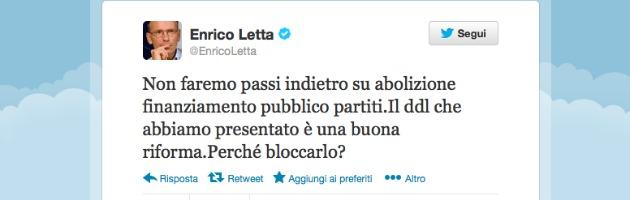 Tweet Enrico Letta