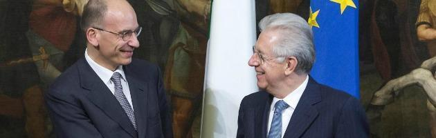 Enrico Letta e Mario Monti