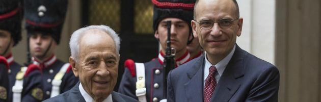 Shimon Peres ed Enrico Letta