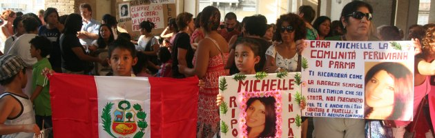 Manifestazione per Michelle