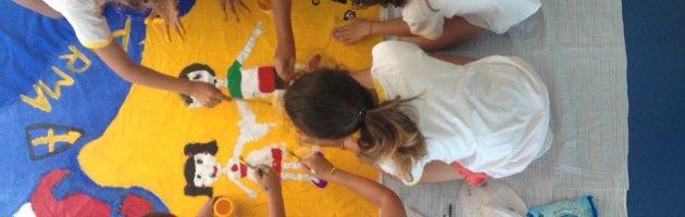 Dal Giappone all'Italia, la tela disegnata dai bimbi vittime del terremoto