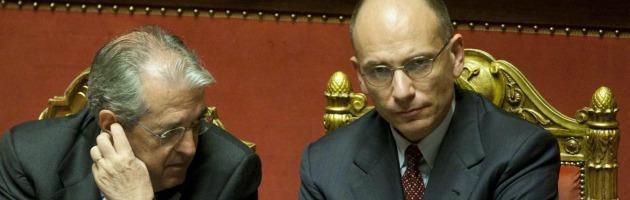 Maurizio Saccomanni ed Enrico Letta