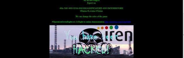 """Anonymous attacca il sito di Iren Emilia: """"Chiudere l'inceneritore"""""""