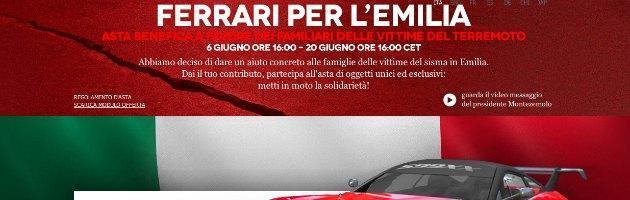 """Terremoto, la Ferrari raccoglie 1,8 milioni per le vittime. Loro: """"Soldi mai visti"""""""