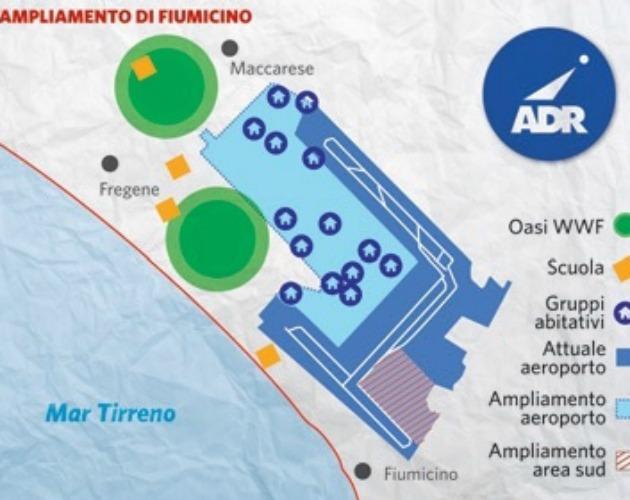 Fiumicino, ok all'ampliamento a sud. Il governo apre il banchetto del cemento