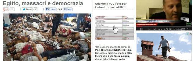 """Scontri in Egitto, Grillo: """"Occidente tace, Italia fa la comparsa"""""""
