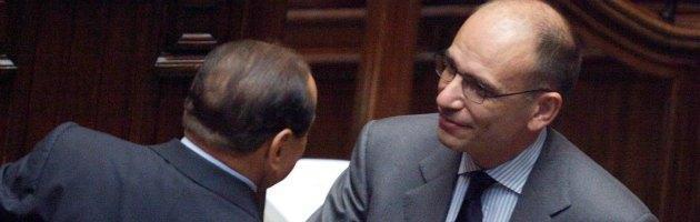 Silvio Berlusconi e Enrico Letta