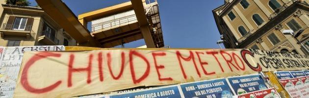 """Metro C di Roma, chiudono i cantieri. I lavoratori: """"Siamo alla disperazione"""""""