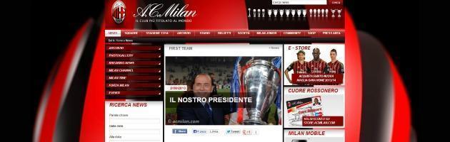 Sito del Milan su condanna Berlusconi