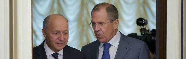 Sergey Lavrov e Laurent Fabius