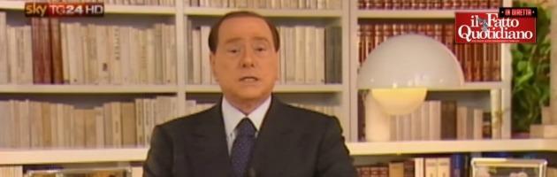 """Videomessaggio Berlusconi: """"Con voi decaduto o no. Forza Italia vince sull'odio"""""""