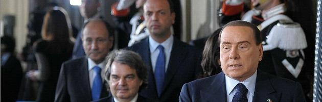 Berlusconi Schifani Brunetta e Alfano
