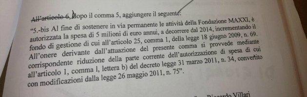 """Dl cultura, M5S: """"Spunta il regalo alla Melandri, 5 milioni di euro al Maxxi"""""""
