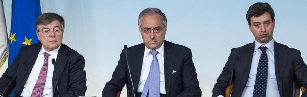 Flavio Zanonato, Filippo Patroni Griffi e Andrea Orlando