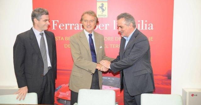 Terremoto, dopo i ritardi la Ferrari consegna i soldi raccolti per l'Emilia