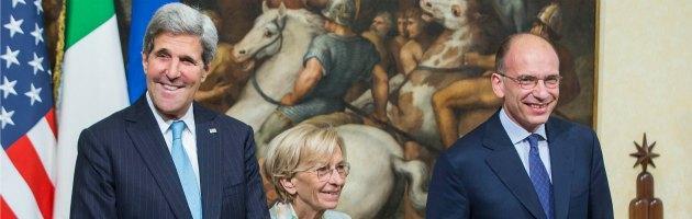John Kerry, Emma Bonino, Enrico Letta