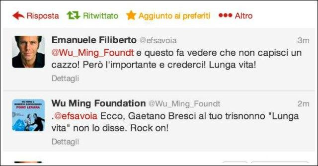 Twitter Wu Ming e Lou Reed