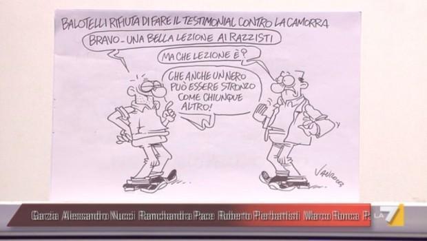 Servizio Pubblico, le vignette di Vauro: dalla legge di stabilità a Balotelli