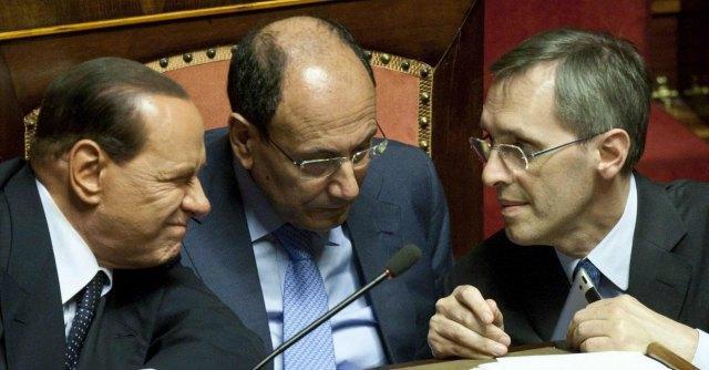 Silvio Berlusconi, Renato Schifani e Niccolo' Ghedini
