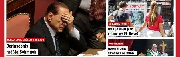 Fiducia governo Letta, la retromarcia di Berlusconi fa il giro del mondo – Foto