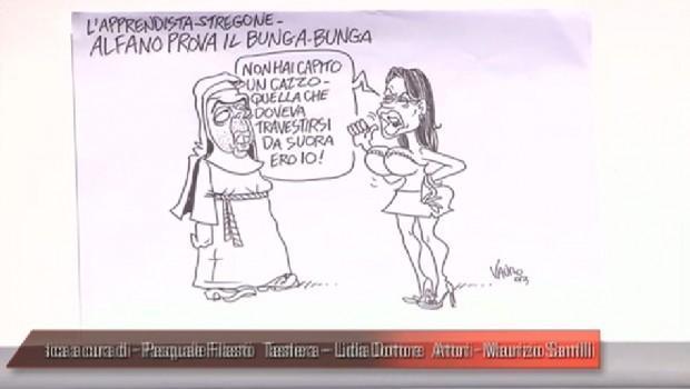 Servizio Pubblico, le vignette di Vauro: dall'apprendista stregone Alfano a Napolitano