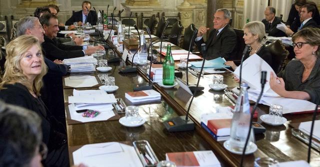 Riunione Giunta per il Regolamento su voto decadenza Berlusconi