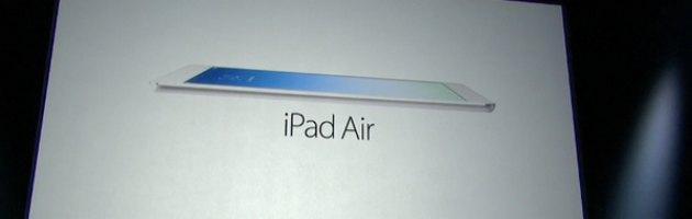 """iPad Air, svelato il nuovo tablet della Apple: """"E' il più potente costruito finora"""""""