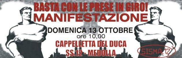 Terremoto Emilia manifestazione
