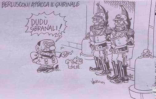 Servizio Pubblico, le vignette di Vauro: da Berlusconi al governo Letta