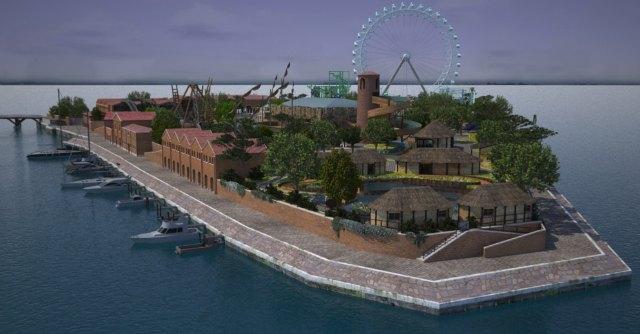Venezia come Coney Island, ecco l'isola culturale ma con le montagne russe