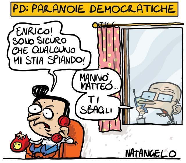 La vignetta del giorno: Pd, Paranoie Democratiche