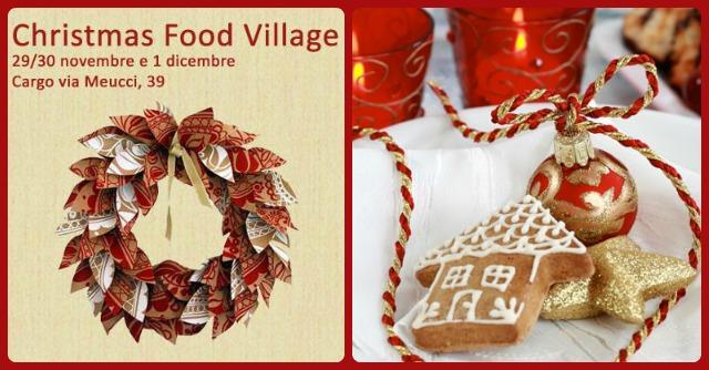 Christmas food village