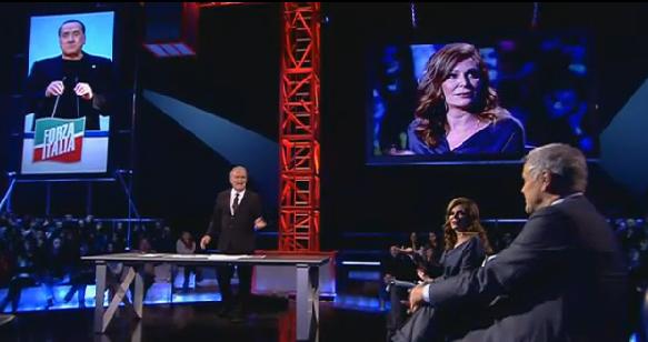 """Servizio Pubblico, Formigoni vs Santanchè: """"Berlusconi è venuto a chiedermi di entrare in lista nel Pdl"""""""