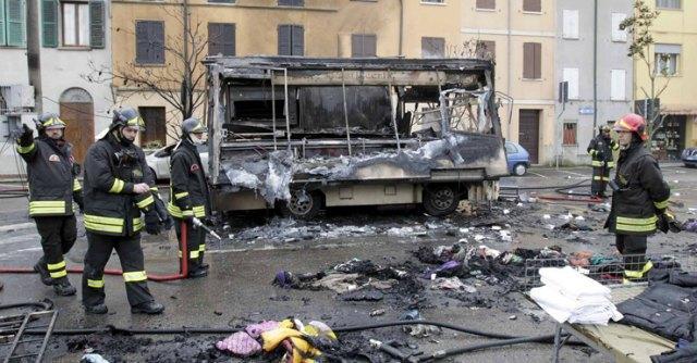 Esplosione Furgone Guastalla